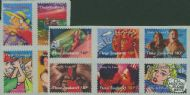 "NZ SG2148b/2152b Stay in Touch Greetings Stamps set of 10 from FDC ""Jumbo Roll"" production"